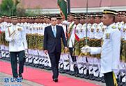 李克强出席马总理的欢迎仪式