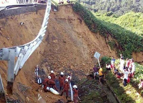 馬來西亞沙巴州公路坍塌造成2人死亡
