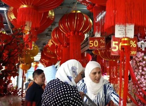 馬來西亞春節年貨市場紅火