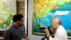 华裔油画家曾庆昌个展在马六甲举行