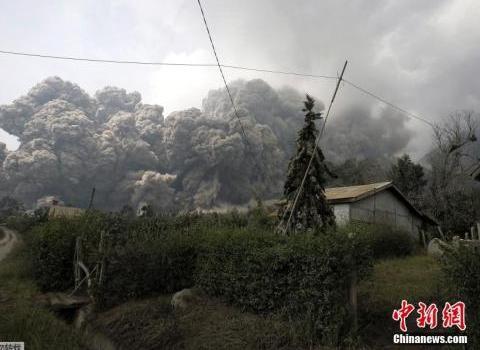 印尼火山塵埃吹向馬來西亞 馬國吁民眾做好防范